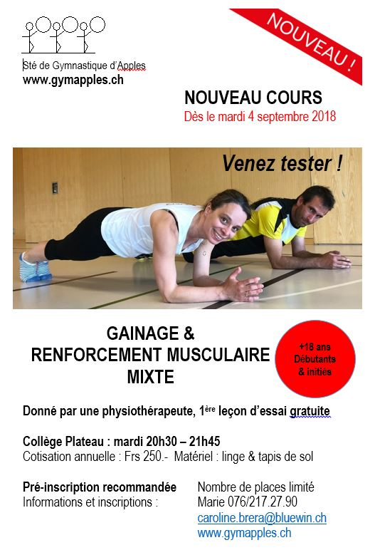 Cours gainage